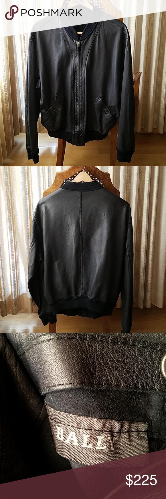 Reversible Bally Leather Bomber Jacket Leather Bomber Jacket Leather Bomber Clothes Design [ 1740 x 580 Pixel ]