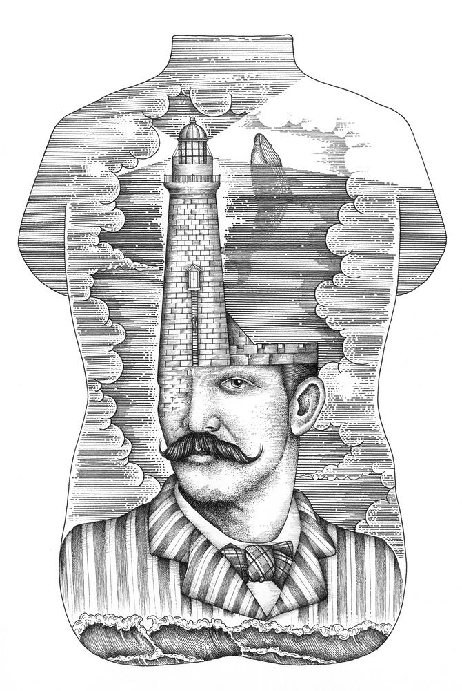 VOUS POUR MOI — LIGHTHOUSE MAN | Engraving | Pinterest