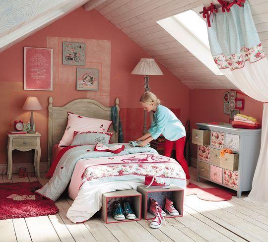 dco fleurie dans la chambre de fille maisons du monde des chambres d - Maison Du Monde Chambre