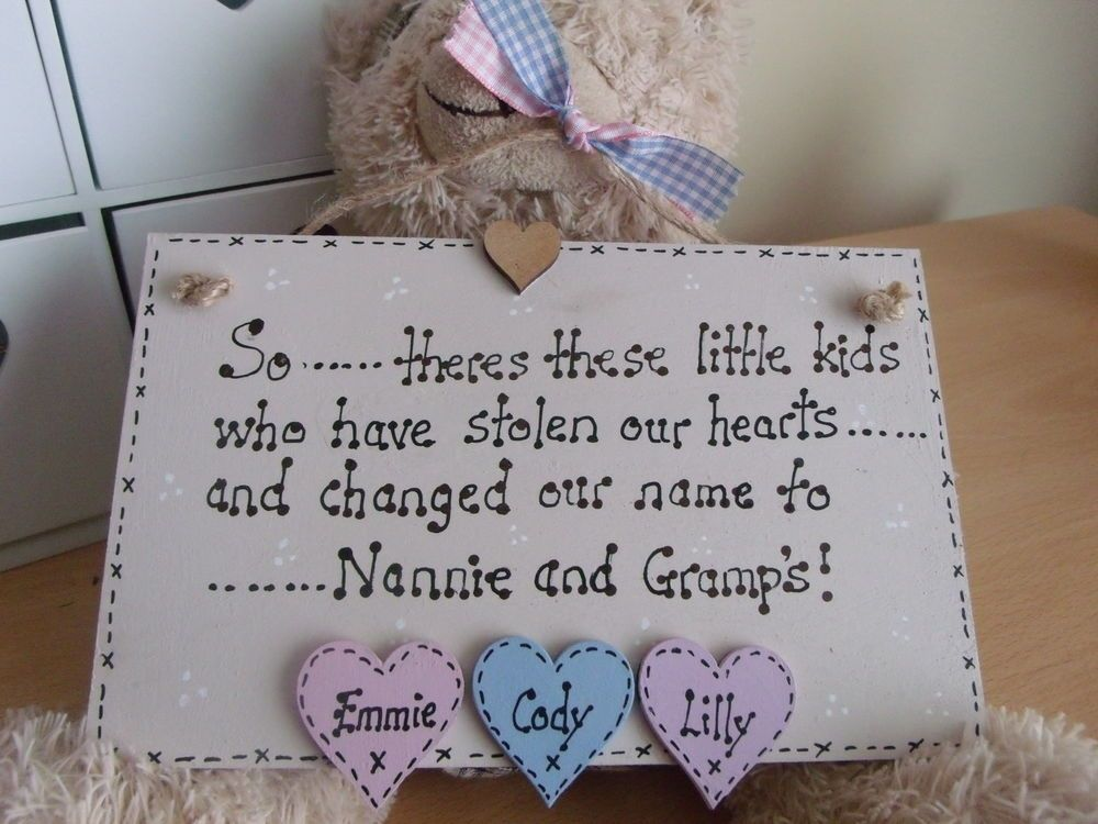 Granny Nanny Nanna Grandad Plaque Personalised Gift Keepsake In Home Furniture Diy Home Decor Plaques Signs