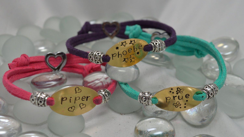 Personalized hand stamped name bracelet daughter granddaughter girls