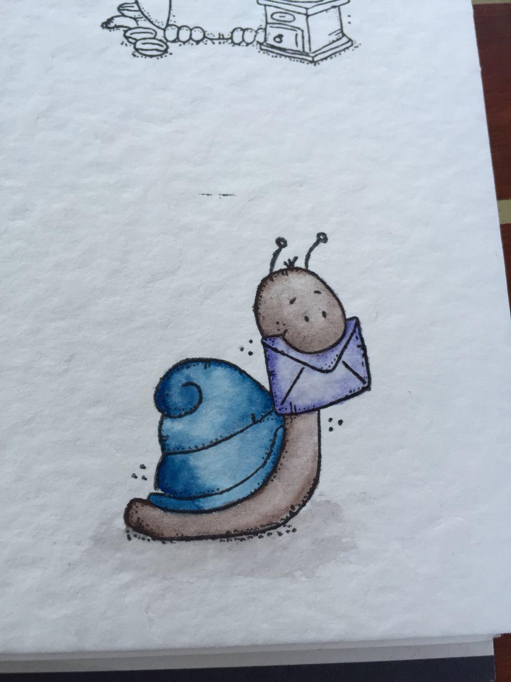 Lelo Schnecke mit Schmincke Aquarell coloriert | Coloration ...