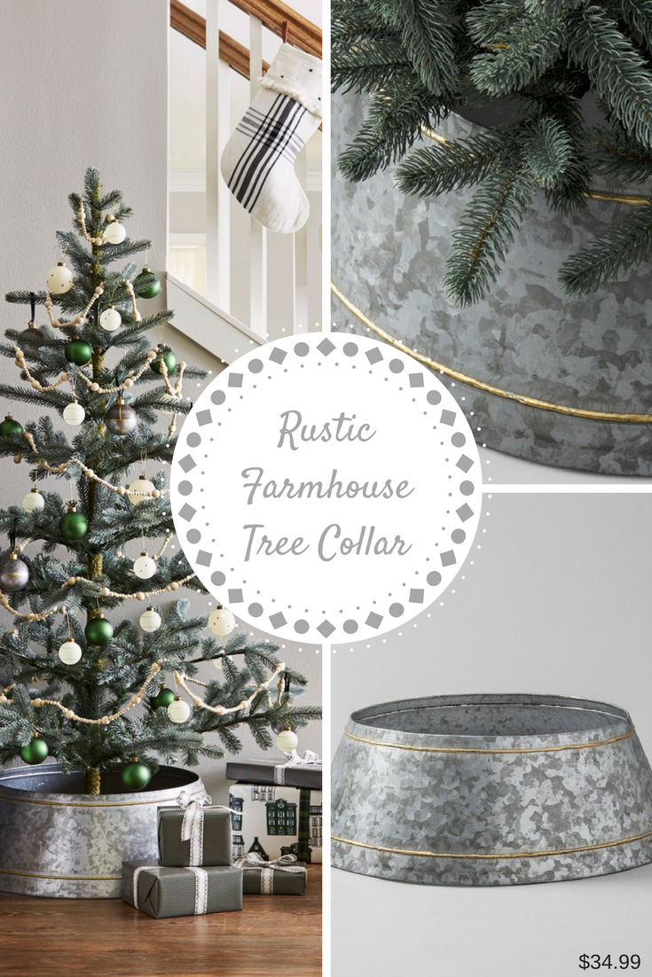 Galvanized metal tree skirt that will compliment your