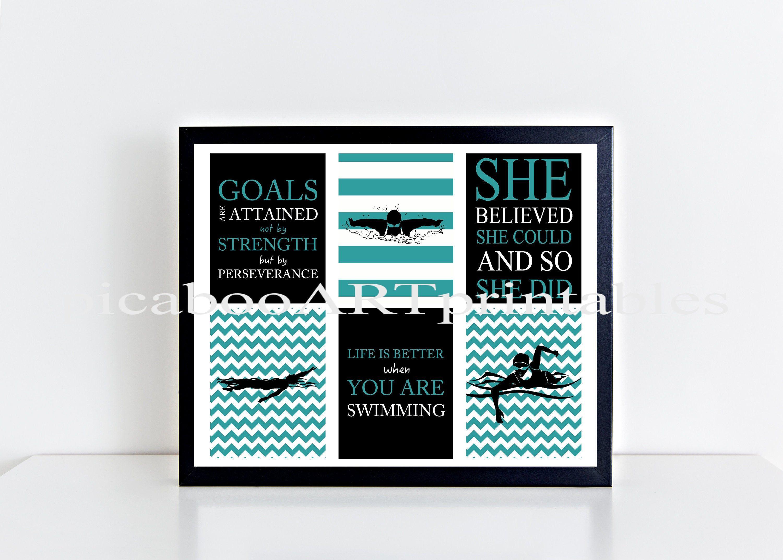 Female Swimmer Swimmer Wall Art Swimming Swim Quotes Etsy In 2020 Swimming Quotes Wall Art Art Gift