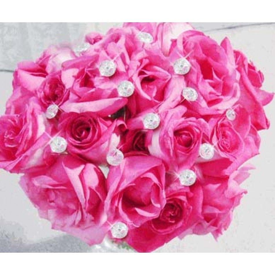Diamond Rhinestone Jewel Picks Bouquet Crystals (6/Pack)- 8 mm CLEAR ...