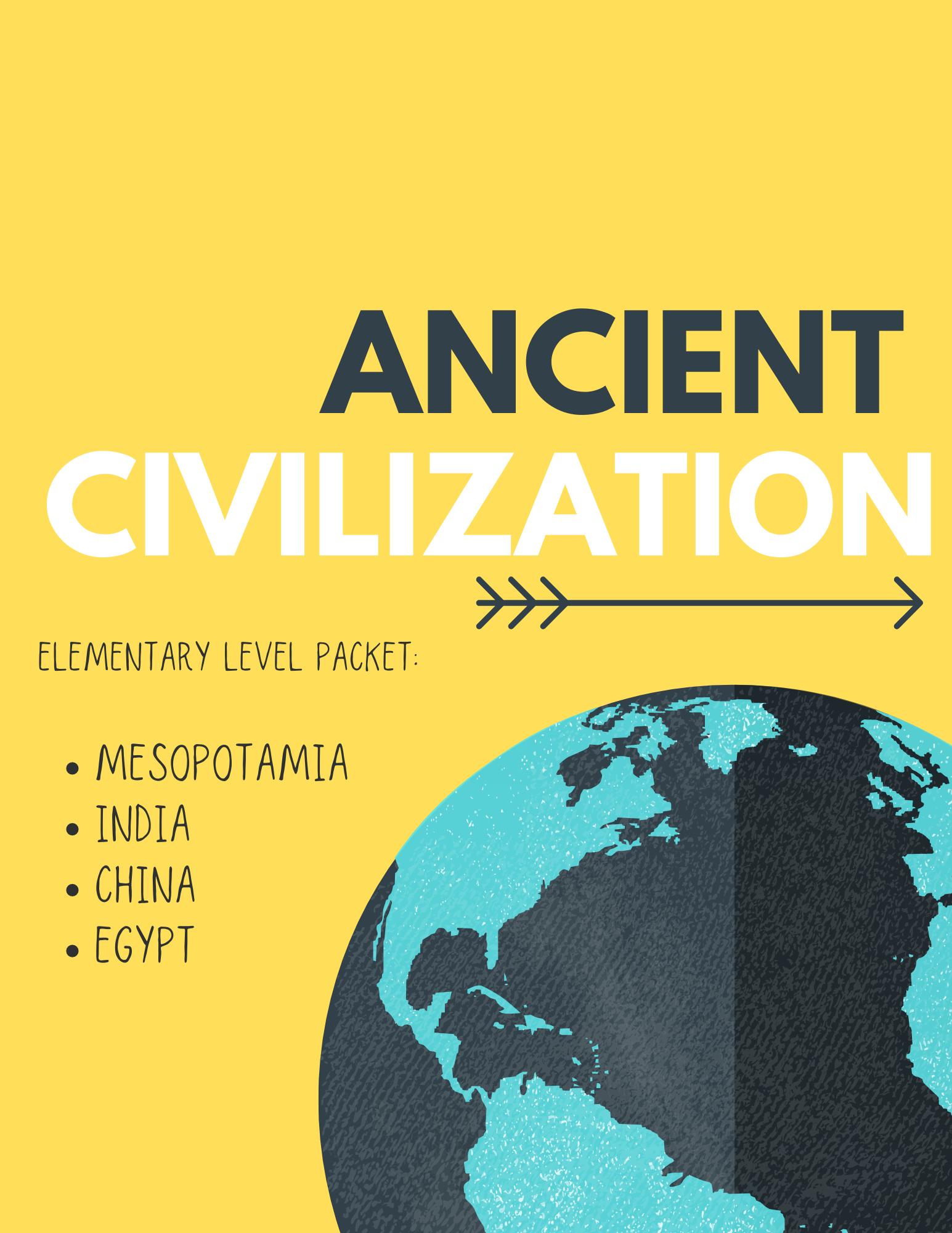 River Civilization Packet 1st 3rd Grade