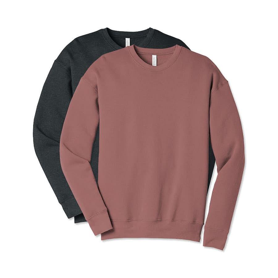 Bella Canvas Ultra Soft Drop Shoulder Crewneck Sweatshirt Black In 2021 Crew Neck Sweatshirt Sweatshirts Sweatshirt Designs [ 900 x 900 Pixel ]