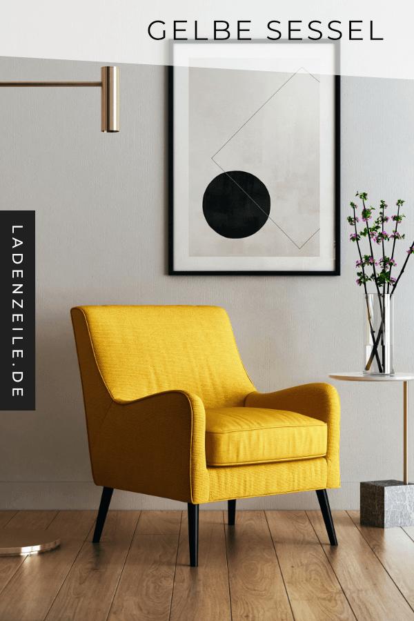 Mit einem gelben Sessel im Wohnzimmer beweist du ...
