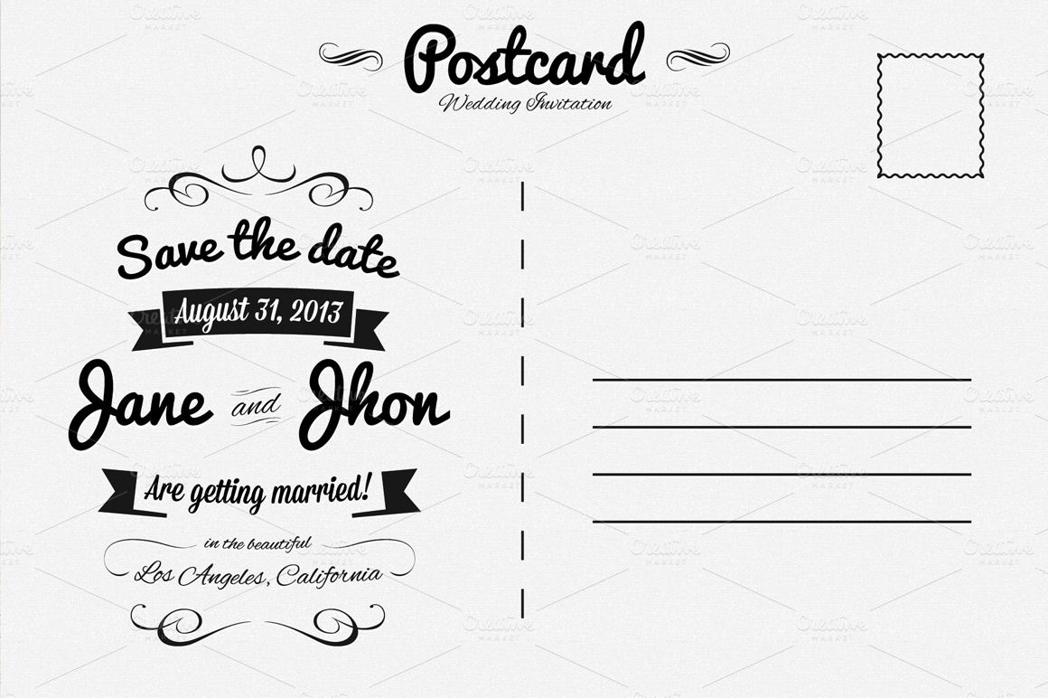 Postcard Layout Back Google Search Post Card Backs Pinterest - Card template free: postcard wedding invitations template