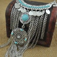 100% Brand new and high quality necklace Necklace Total Length: as picture Material: Alloy Color: Si