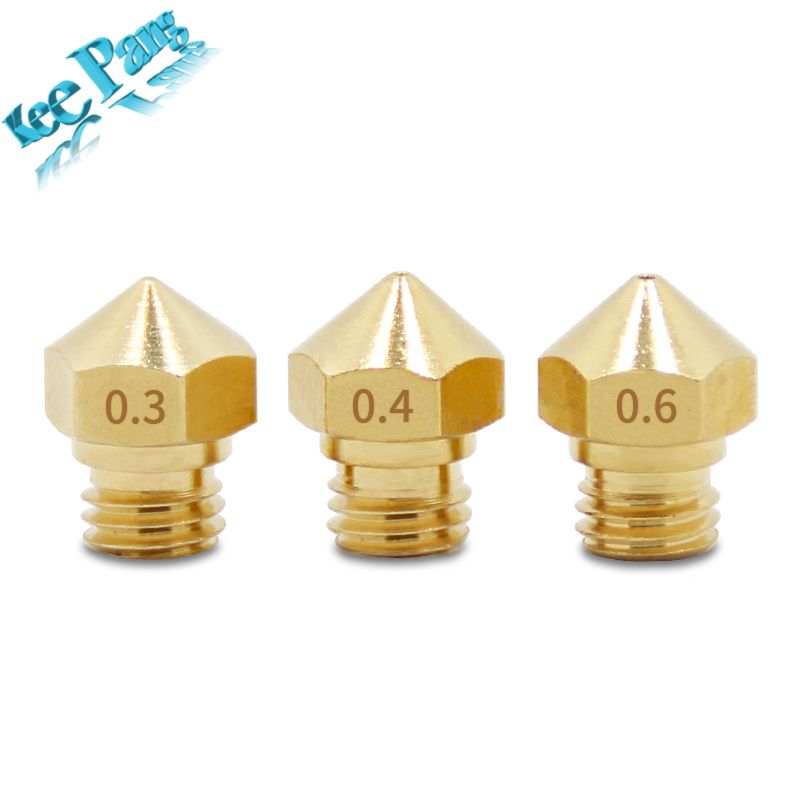 5pcs MK10 Nozzle Copper M7 Part Threaded For Extrusion 1.75mm Filament Brass New