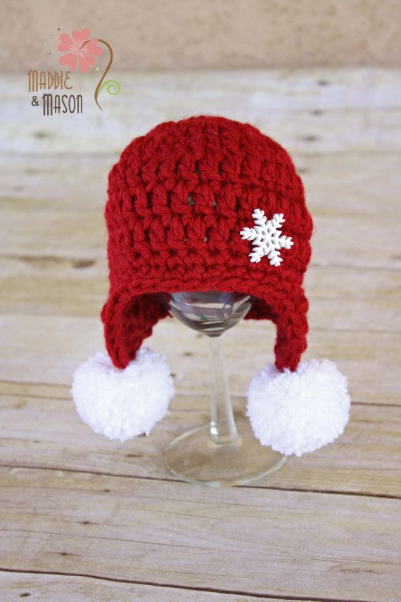 crochet christmas hat Knit  crochet Pinterest Christmas hat