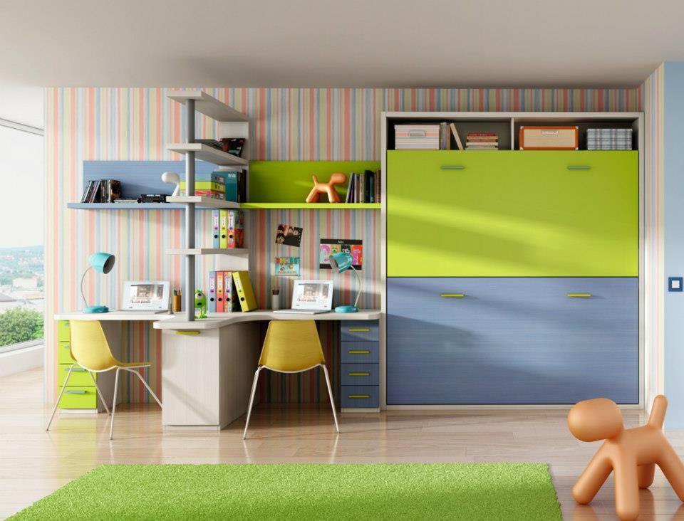 Literas abatibles habitaciones infantiles pinterest for Habitaciones juveniles abatibles