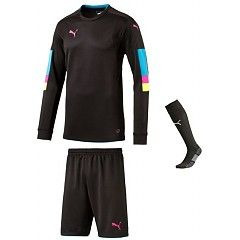 63a0ea37719 PUMA TOURNAMENT GK SET BLACK ANATOMIC BLUE