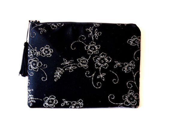 Black Clutch Lace Clutch  Evening Bag Wedding by SunlitSerenade
