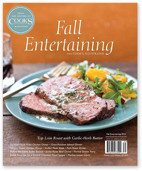 Fall Entertaining 2012 - Cook's Illustrated Special Magazine Issues