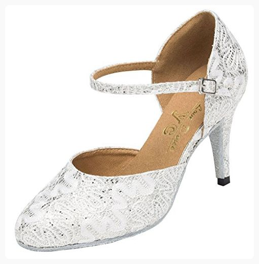Miyoopark Womens Crystals Sparkle Latin Dance Shoes Female Wedding Party Evening Sandals