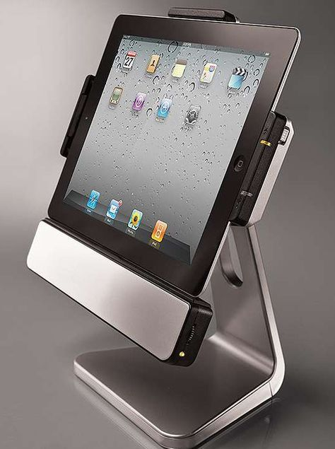 More than just an iPad stand, the Rotating iPad Dock is