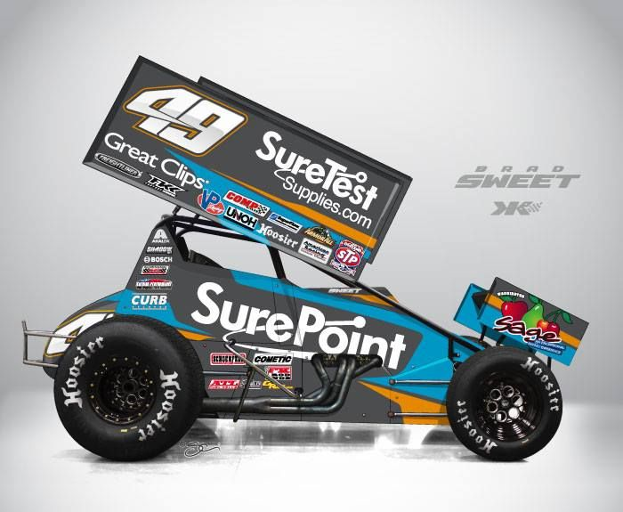 Dirt sprint car kasey kahne racing 2014 cars http for Dirt track race car paint schemes