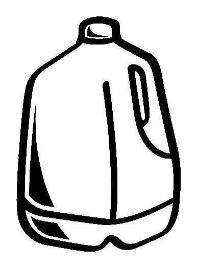 40+ Jug Clipart Black And White