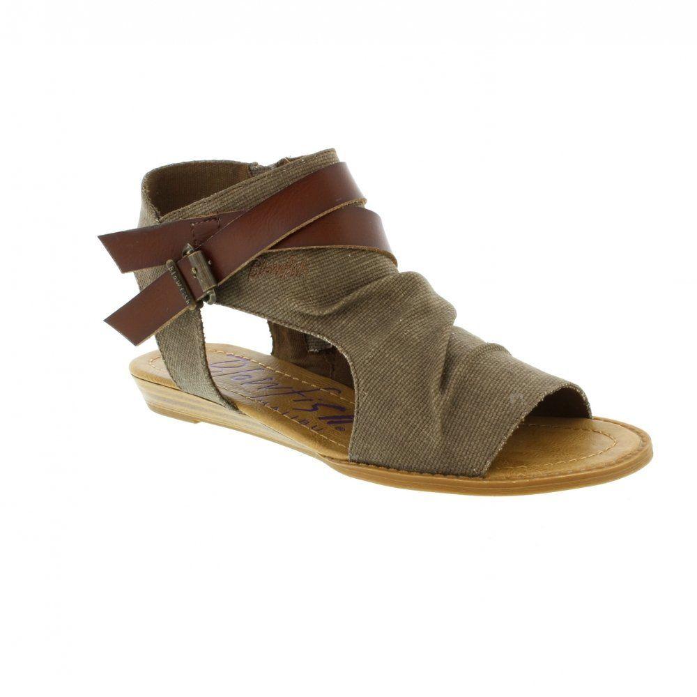 Blowfish Balla - Brown/Whiskey Womens Sandals 6.5 US