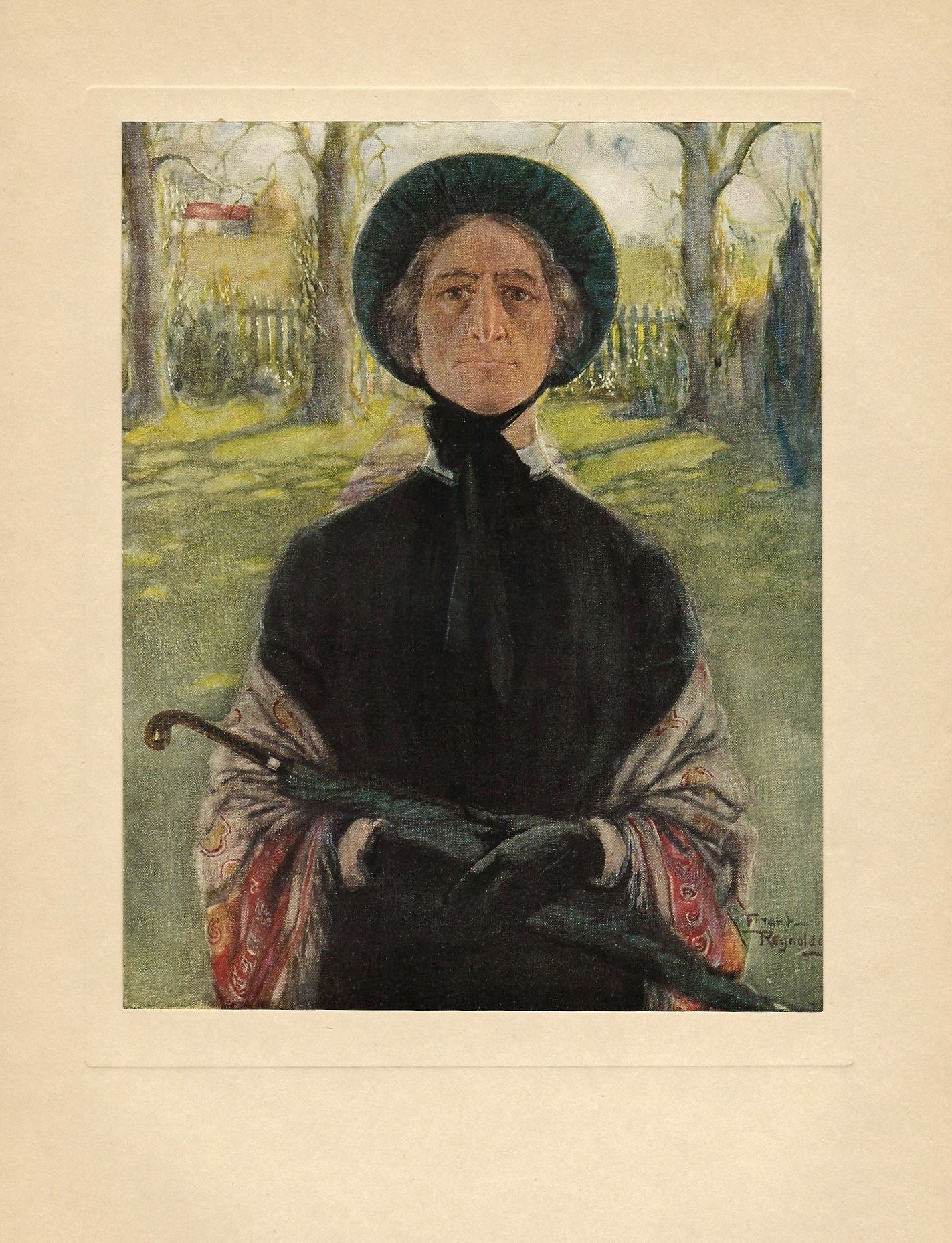 miss betsey trotwood a illustration by frank reynolds for   miss betsey trotwood a 1923 illustration by frank reynolds for charles dickens