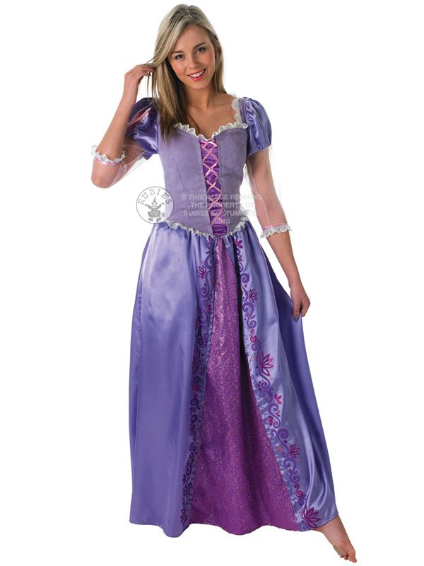 Adult Disney Rapunzel Fancy Dress Costume Princess Fairytale Tangled ...