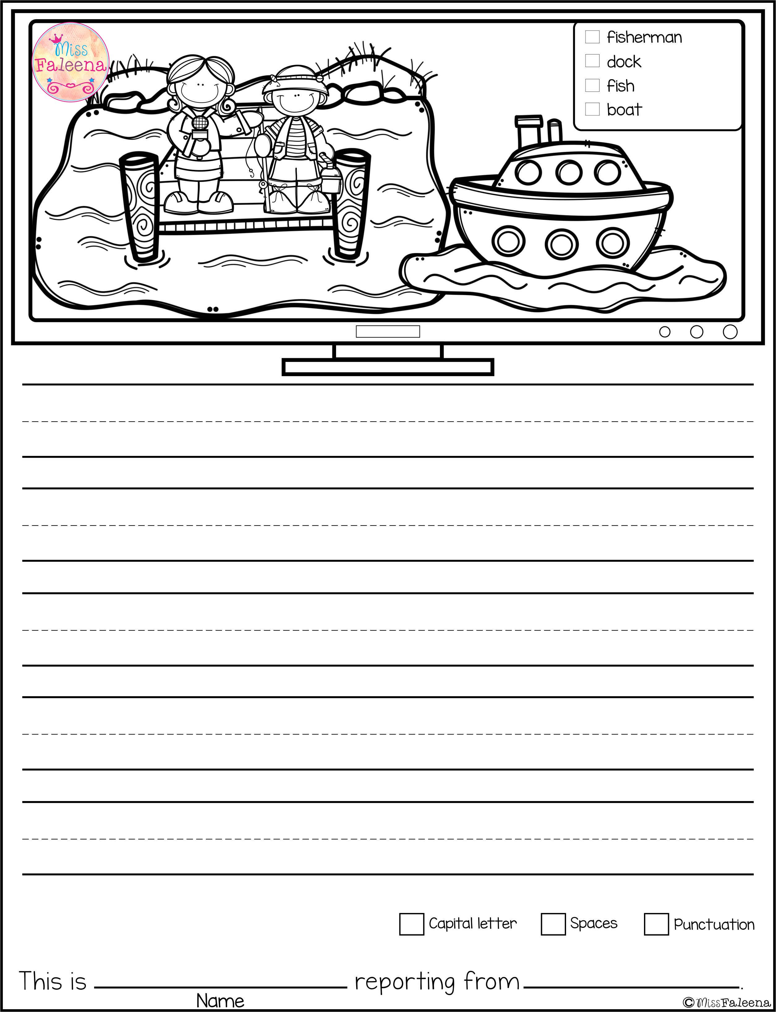 Free Writing Picture Prompts News Reporter Contains 15 Free Pages Of Picture Prompts Worksheets Thi Picture Prompts Writing Pictures Picture Writing Prompts [ 3272 x 2510 Pixel ]