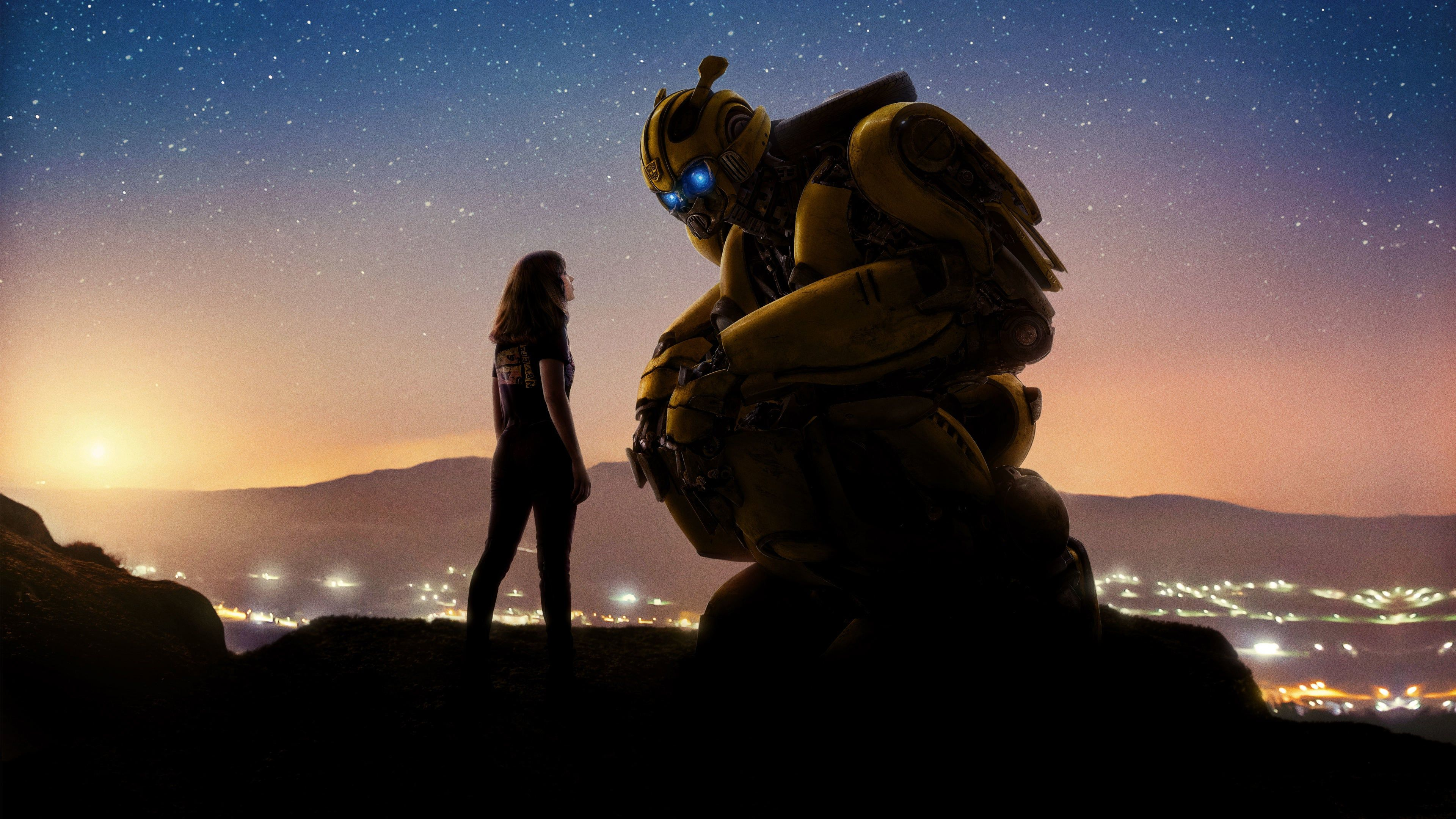 Watch Bumblebee 2018 Full Movie Online Free On The Run In The Year 1987 Bumblebee Finds Refuge In A Junkyard In A Small Californian Beach Town Wallpaper Hd