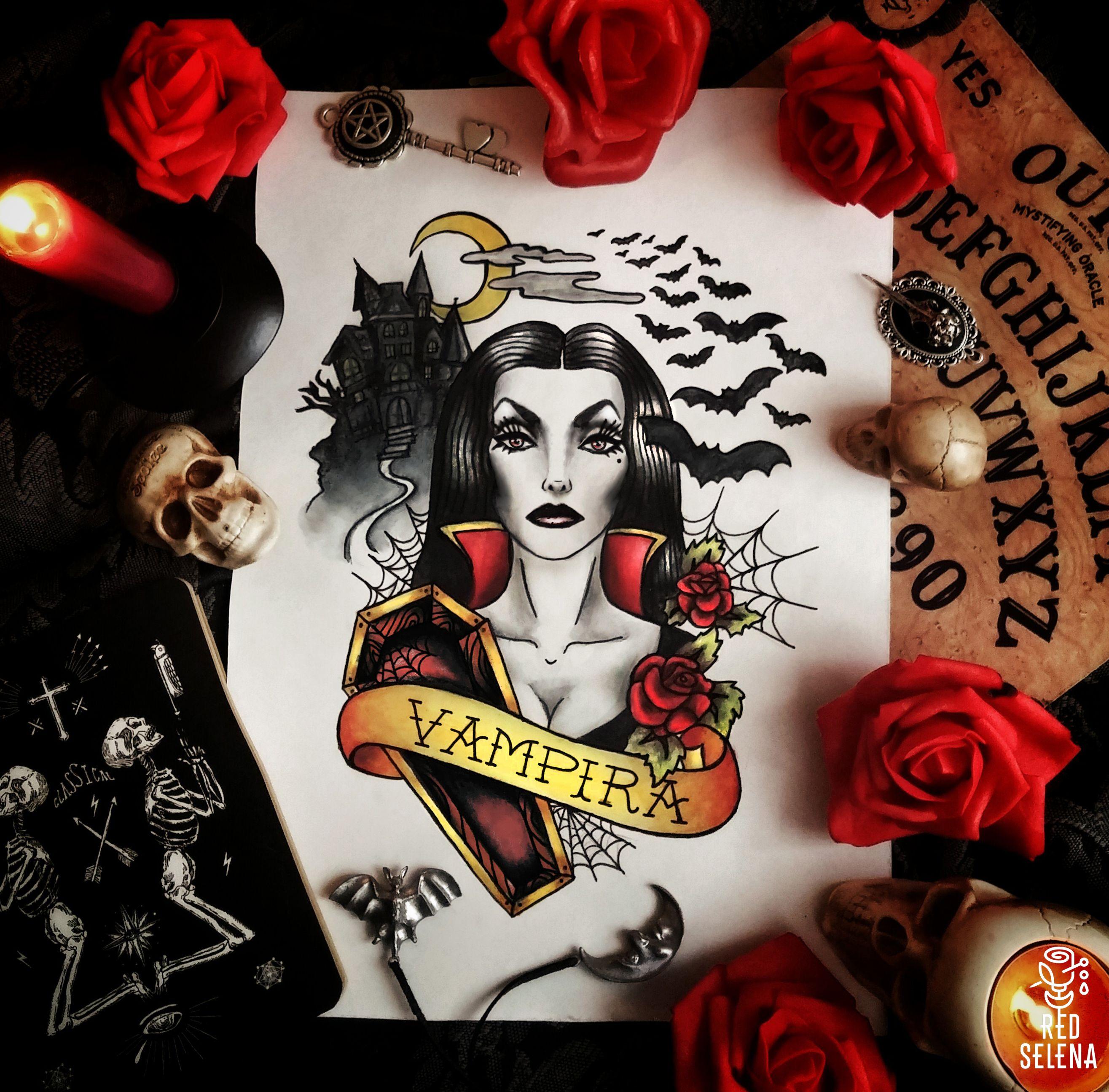 Vampira Tattoo Maila Nurmi Vampira Ta...