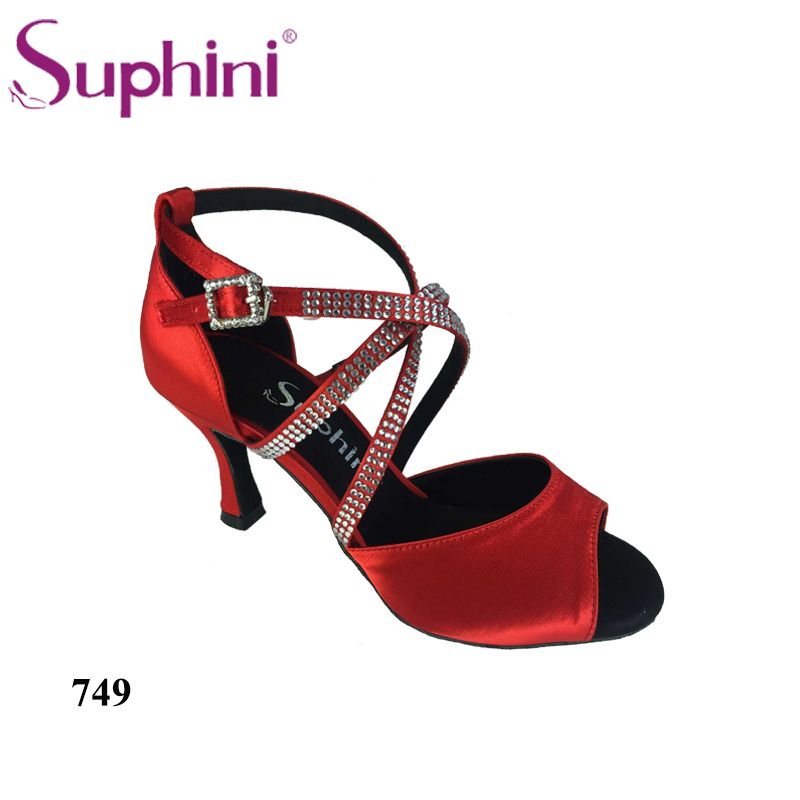 1e523ae78 (Promotion price $) Free Shipping Suphini 2018 Latin-Dance-Shoe Purple  Competition