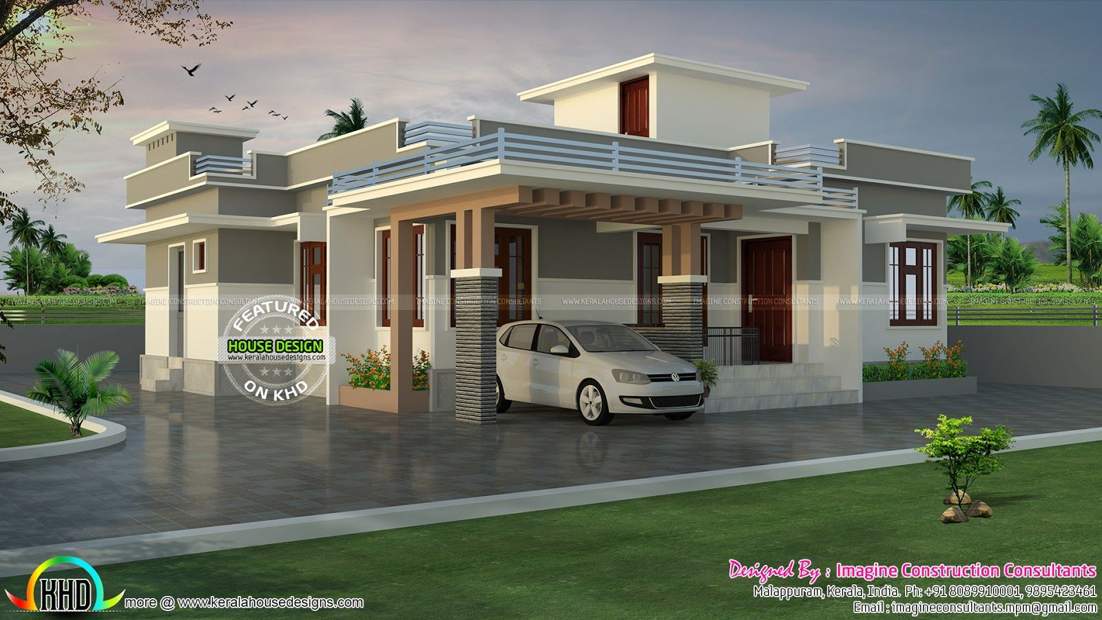 1200 Sq Ft Rs 18 Lakhs Cost Estimated House Plan House Architecture Design Kerala House Design Bungalow House Design