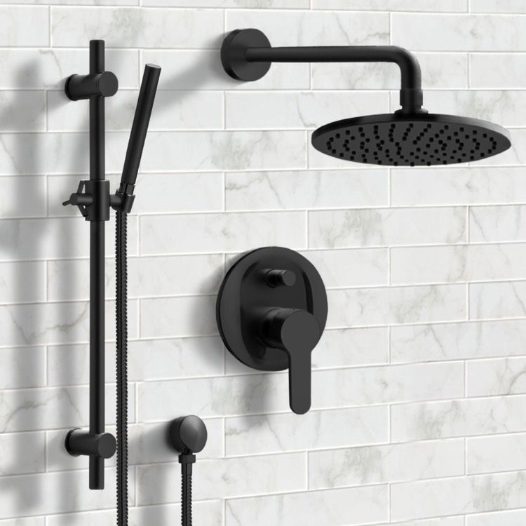Photo of Matte Black Shower System with 8