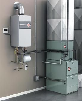 Photo Of A Hydro Air System Using Tankless Water Heater