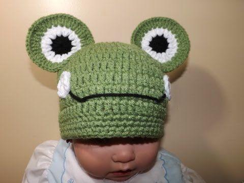 Crochet Gorrito Rana - YouTube | tejidos | Pinterest