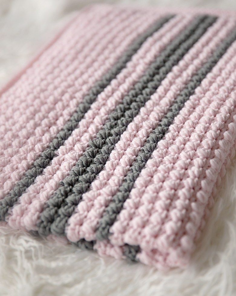 Bobbles and Stripes Baby Blanket Pattern | Crochet | Pinterest ...