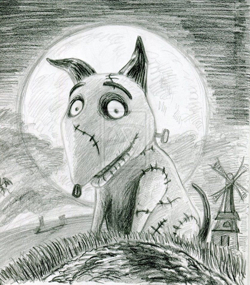 Sparky From Frankenweenie Drawing Tim Burton Artwork Tim Burton Drawings Drawings