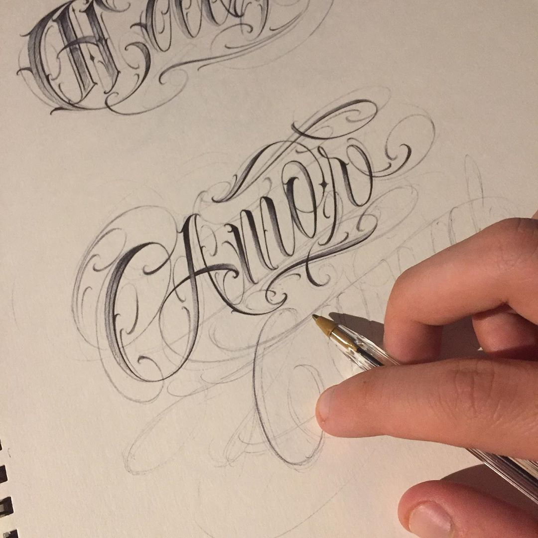Image May Contain Drawing Tattoo Lettering Fonts Graffiti