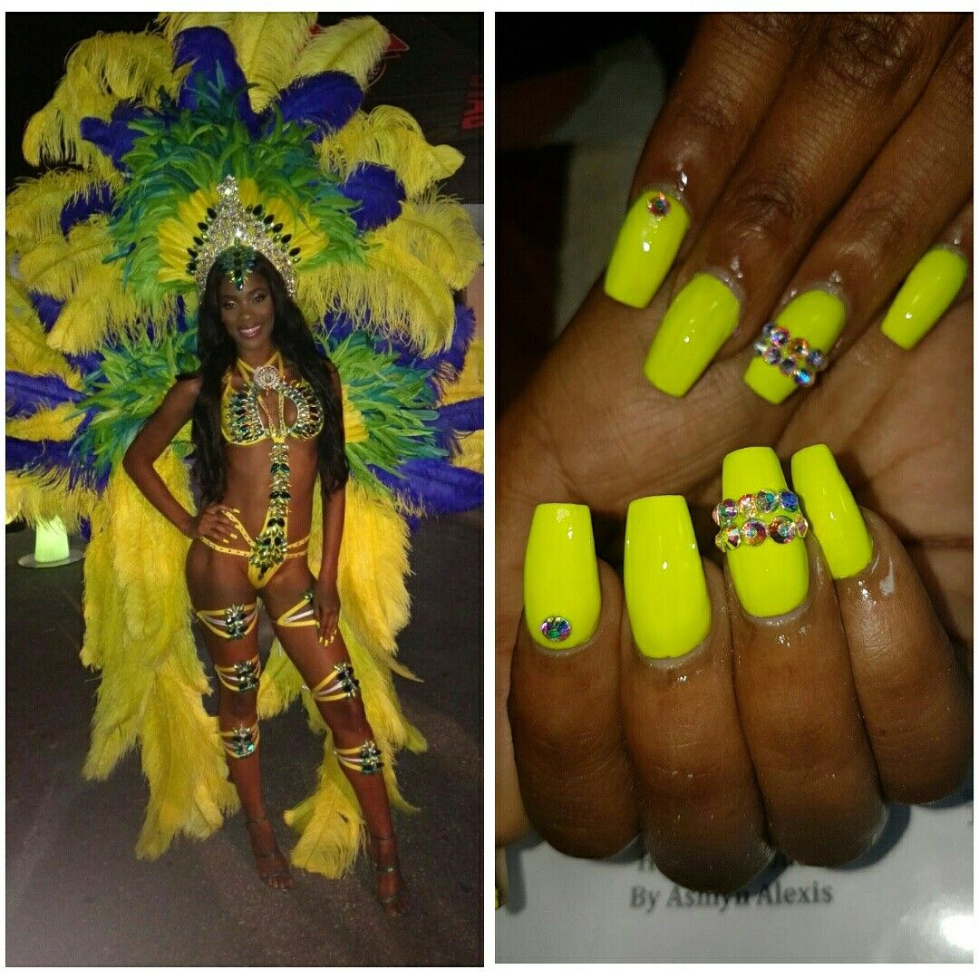 Beauty QueeN Nails - Neon yellow Coffin Simple but effective ...