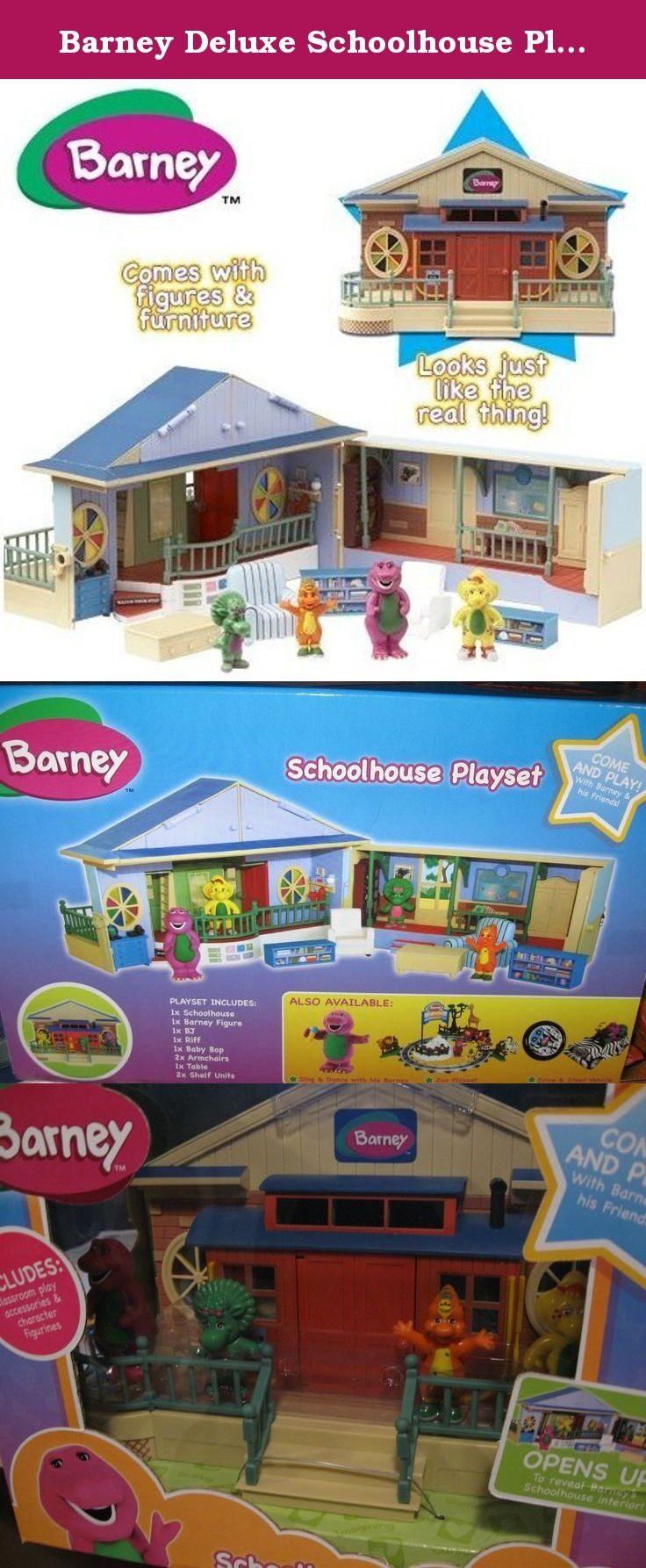 Barney Deluxe Schoolhouse Playset With Play Figures Barney Deluxe