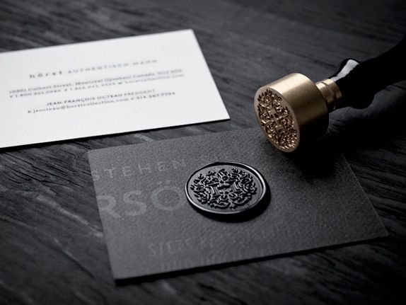 hot wax stamp, part of the identity for clothing brand Hörst Dusseldorf