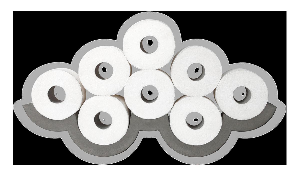 Cloud Concrete Toilet Paper Storage, Small | decoracion | Pinterest ...