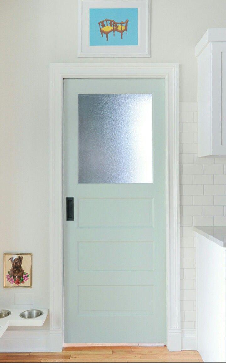 Swinging Door Laundry Room Doors Frosted Glass Pantry Door