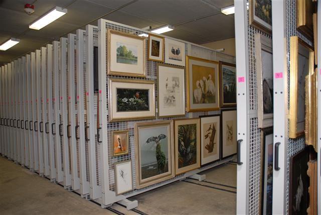 Art Rack Storage In The Painting Vault At The Canadian War Museum Spacesaver Art Storage Museum Storage Storage