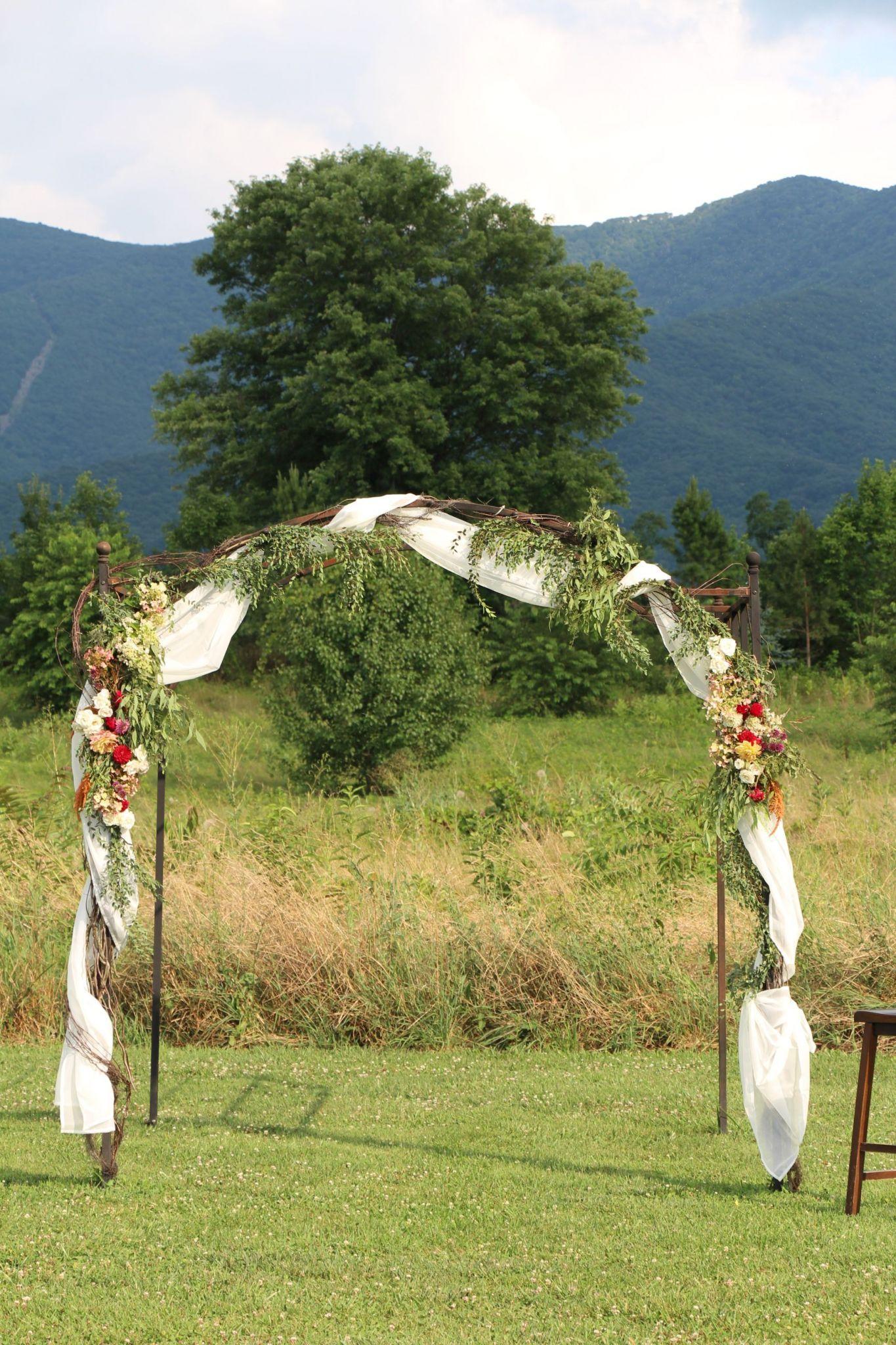 Wildflowers arbor -done by Flourish Root @khimairafarm outdoor wedding venue luray, virginia