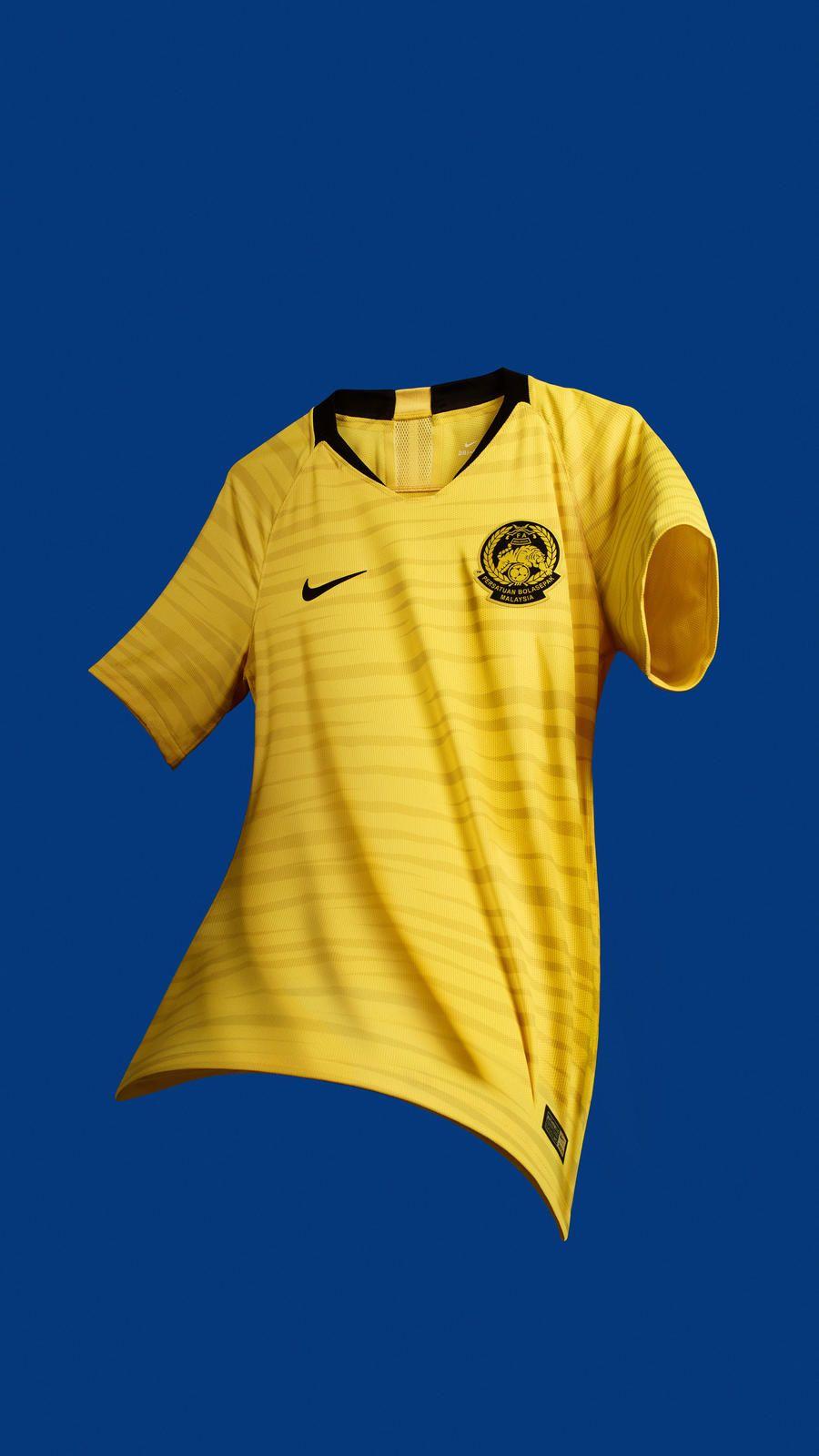 2018 Malaysia National Team Kit Sports Jersey Design Nike Football Malaysia National Football Team