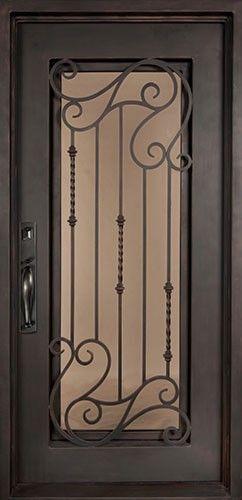 40x82 Affinity Iron Door Beautiful wrought iron front entry door