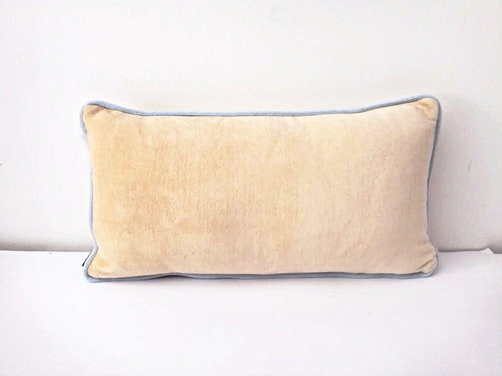 "Velvet Ivory Throw #Pillow Cover 12"" by 20"", #Velvet Backrest #Cushion, Free Shipping by CushionsandMore on Etsy"