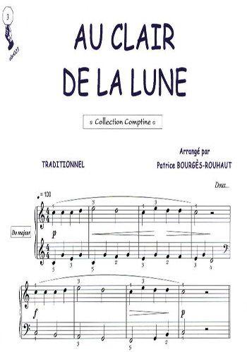 Partition Pour Piano Au Clair De La Lune