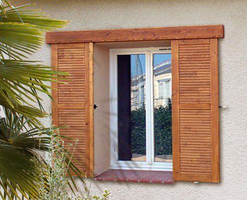 Zoom Sur Les Volets Battants Bois Renov Art En 2020 Avec Images Volet Battant Bois Construction Maison Bois Renovation Vieille Maison